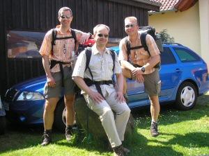 Gruppenfoto 2008: Oli - Jörg - Thorsten