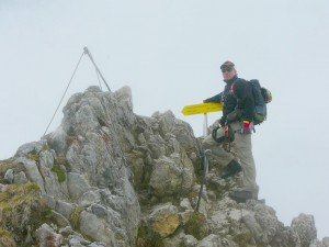 2013 - Einstieg Mittenwalder Klettersteig