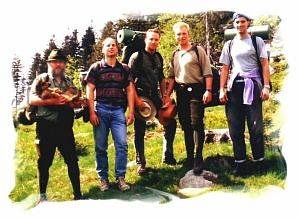 Gruppenfoto 1994: Achim - Micha - Sebastian - Thorsten - Oli