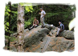 2004 - Abendbrot an der Hickelhöhle