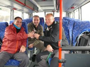 2015 - Busfahrt zum Einstieg