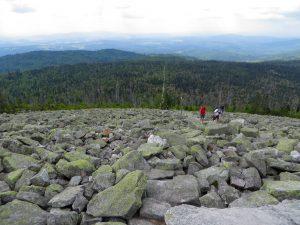 Geröllfels am Gipfel